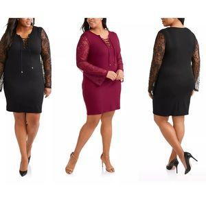 New Women's  Size 2X 18W-20W Lace Sleeve Dress